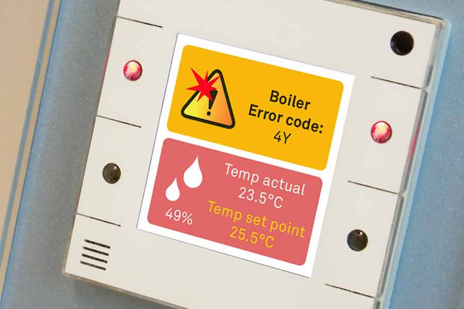 Details Fault and alarm messages - Your room controller for